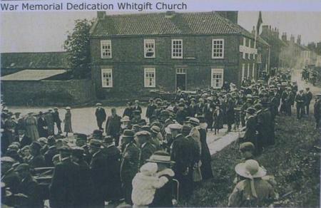 Whitgift War Memorial dedication