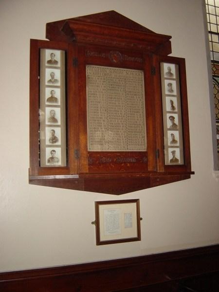 The Drive Methodist Church Memorial Board