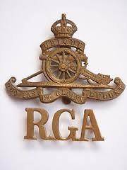 R.G.A. cap badge