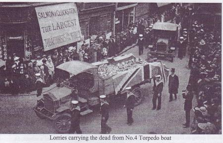 Funeral procession of HMTB4 victims in Ramsgate