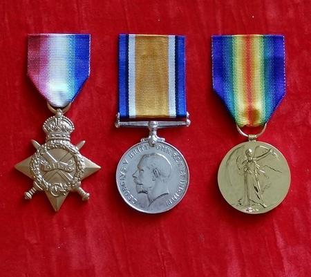 1915 Star, Victory Medal, British War Medal