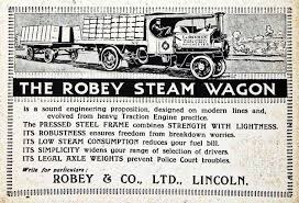 Robey of Lincoln Steam Wagon