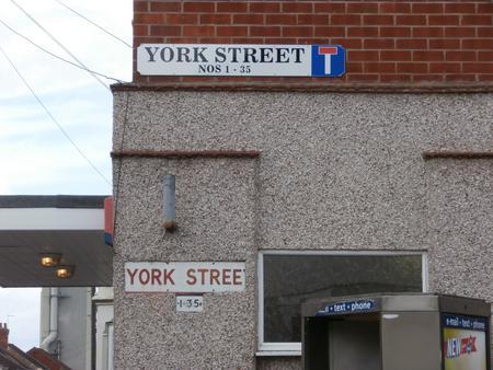 York Street sign