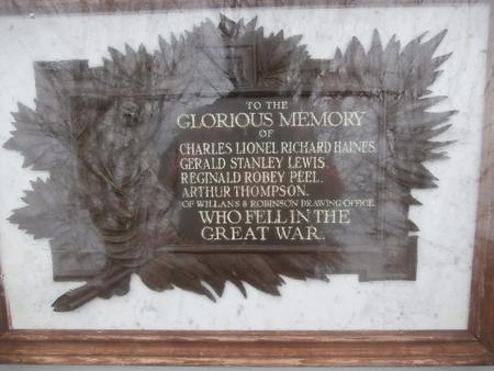 Willans DO war memorial