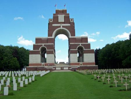 Thiepval memorial - on the Somme