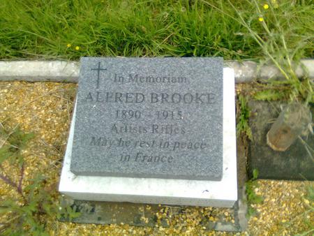 His memorial in the family plot