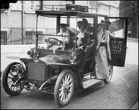Vera chauffering the Pankhursts!