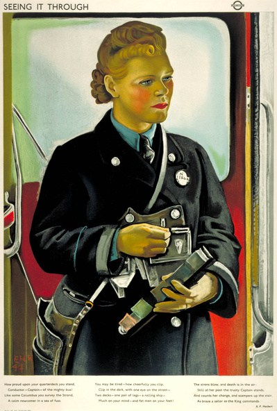 """Commissioned for series """"seeing it through"""" 1944"""