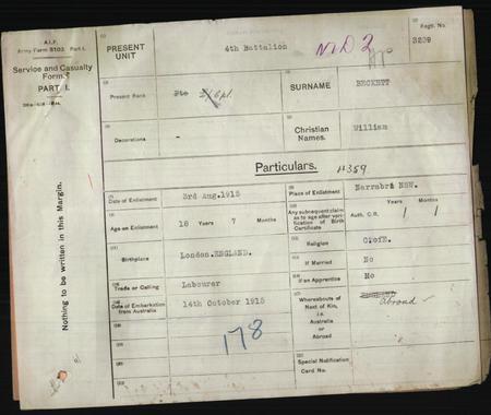 enlistment record