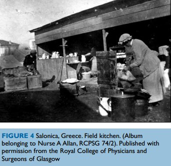 Salonica, Greece. Field kitchen. by Annie Allan