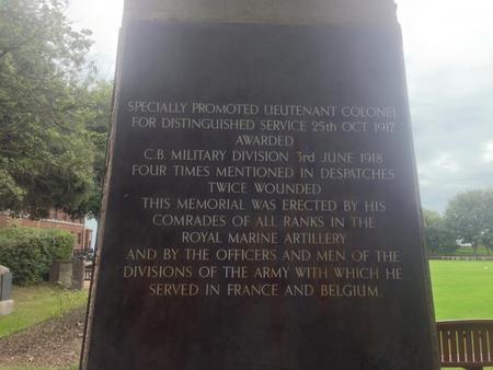 Royal Marines Memorial Statue, back panel