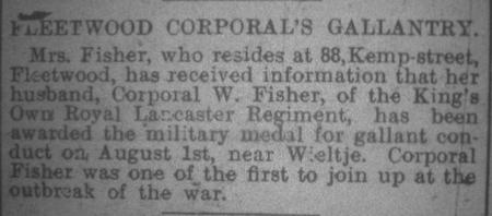 Fleetwood Corporal's Gallantry