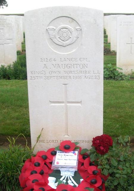 CWGC headstone Guards' Cemetery, Lesboeufs, France