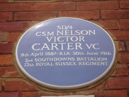 Blue Plaque at 33 Greys Road, Eastbourne