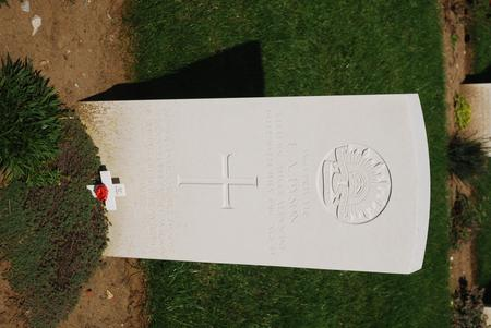 Gravestone at Fromelles