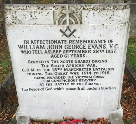 Headstone in Beckenham Cemetery