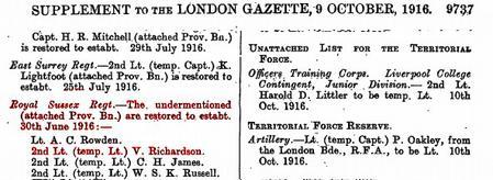 Gazette entry