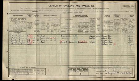 1911 England, Wales and Scotland Census