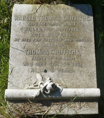 Profile picture for Harold Thomas Griffiths
