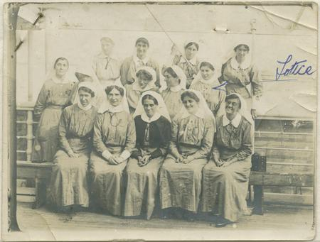 Sister Charlotte Le Gallais and her Orderlies