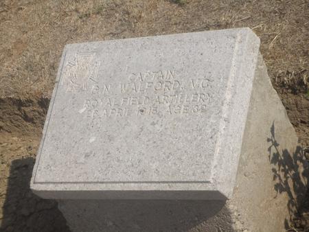Garth's grave in V Beach Cemetery, Gallipoli