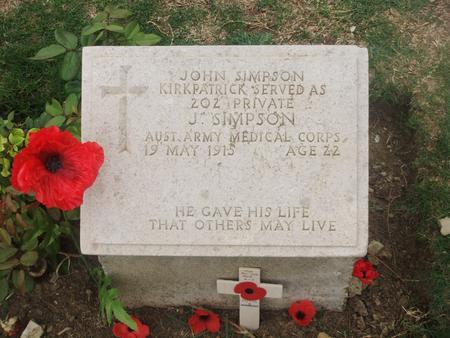 John's grave at Beach Cemetery, Gallipoli