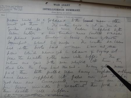 PAge from War Diary of the 150th Field Company RE