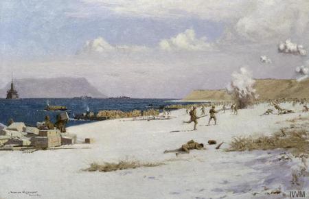 Troops Landing on C Beach, Suvla Bay