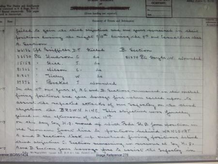 War diary for 10 April 1917