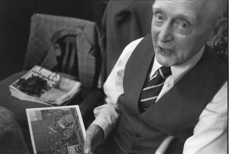 Harry Holmes pictured aged 99 years