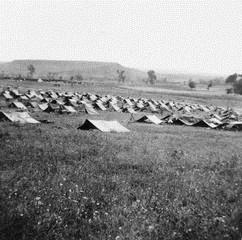 The battalion campsite