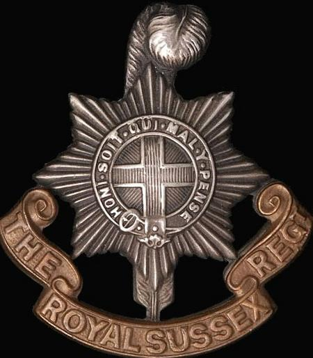 Cap Badge of the Royal Sussex Regiment