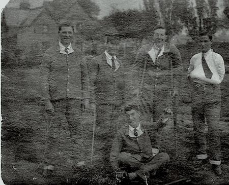William Wilgose, far left, late 1915 or early 1916