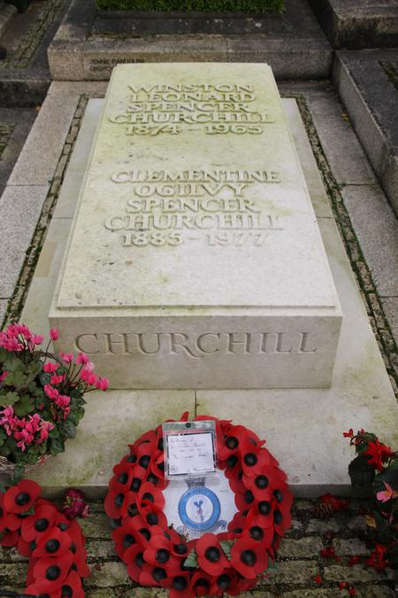 Churchill's final resting place 'At Bladon' . . .