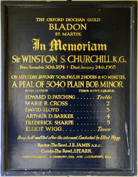 In Memoriam: Sir Winston S. Churchill K.G.