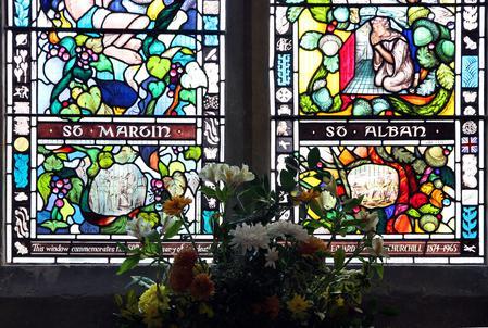 Churchill Memorial Window, St. Martin, Blaydon.