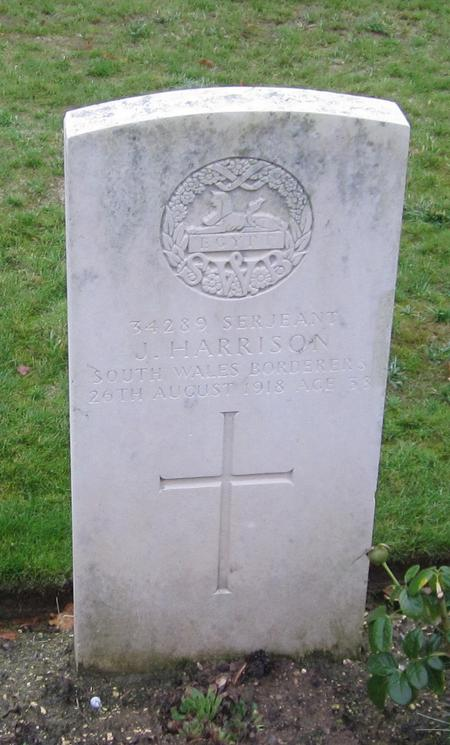 Grave of Serjeant Joseph  Harrison