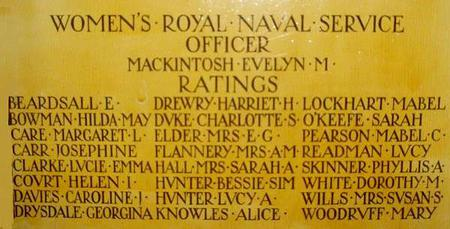 Memorial for the Women's Royal Naval Service
