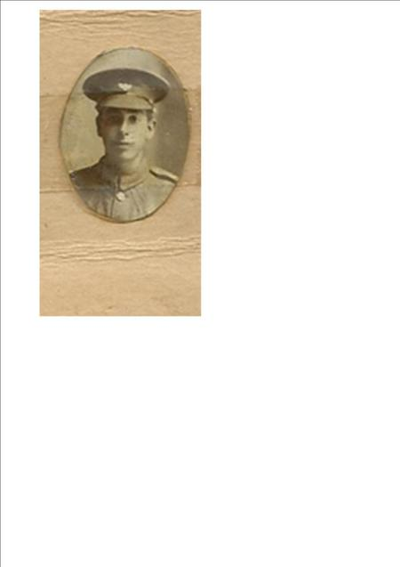 Oval photo of Walter in uniform