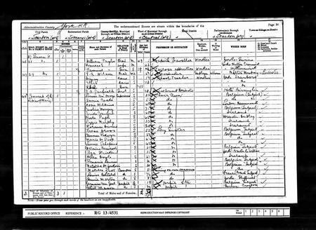 R E A Wilson 1901 Census