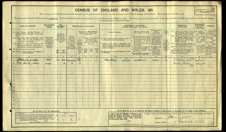 R E A Wilson 1911 Census