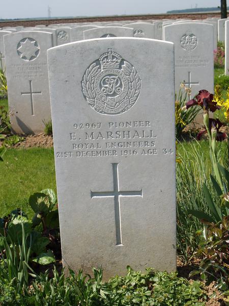 CWGC Headstone for Eugene Marshall