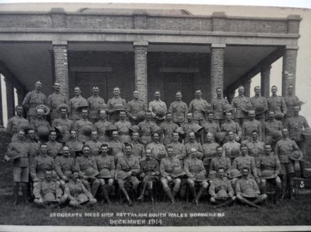 2nd Btn South Wales Borders Sergeants Dec 1914