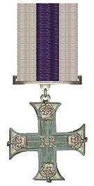 Military Cross as  awarded to Lieutenant Marshall