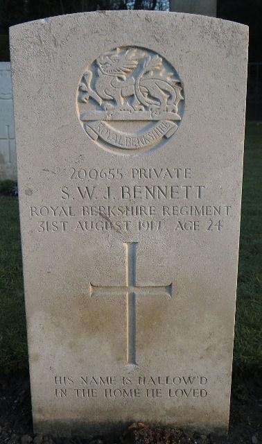 Stanley Bennett's Grave