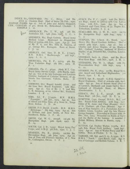 CWGC register 2