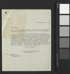 Letter from IWM