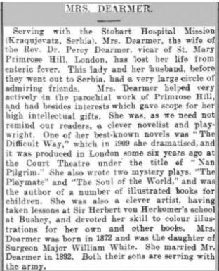 Mabel's obituary 1915