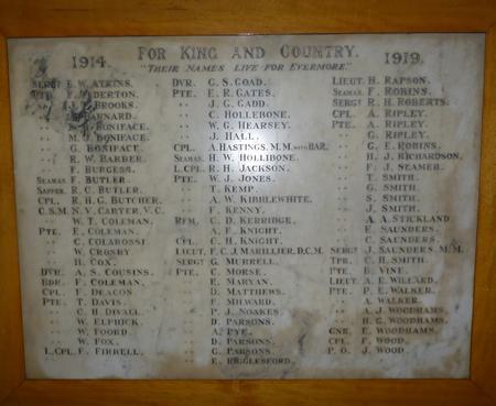 Hailsham Council School War Memorial