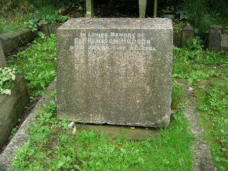 The war grave of Eli Hudson